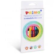 Pastelli colorati - Astuccio 12 Matite Doppiocolore Diam. 3,8mm Minabella Primo -