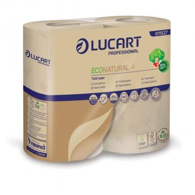 Carta igienica e distributori - Pacco 4 Rotoli Carta Igienica 400 Strappi Econatural Lucart -