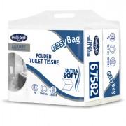 Carta igienica e distributori - Pacco 250 strappi Carta Igienica interfogliata EasyBag BulkySoft - CONF.24 -