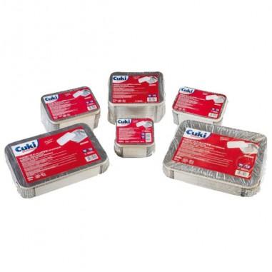Accessori vari - Pack 25 Contenitori Alluminio 8 Porzioni + Coperchio Cuki -