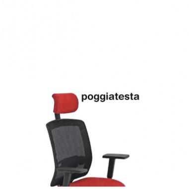 Sedute operative - Poggiatesta Rosso Per Seduta Molly A -