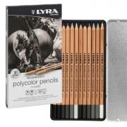 Speciali - ASTUCCIO METALLO assortimento 12 matite grigie REMBRANDT POLYCOLOR Lyra -
