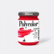 Tempere - belle arti - Colore vinilico Polycolor vasetto 140 ml rosso brillante Maimeri - CONF. 3 pz -
