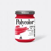 Tempere - belle arti - Colore vinilico Polycolor vasetto 140 ml vermiglione imitazione Maimeri - CONF. 3 pz -