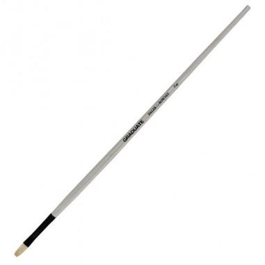 Accessori pittura - Pennello setola naturale Graduate piatto lungo n.8 manico lungo Daler Rowney - CONF. 6 pz -
