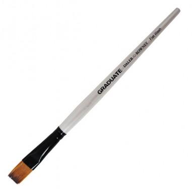 Accessori pittura - Pennello sintetico Graduate piatto quadrato n.3/4 manico corto Daler Rowney - CONF. 6 pz -