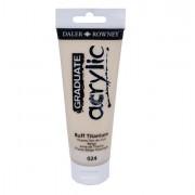 Tempere - belle arti - Colore acrilico fine Graduate tubo 120 ml titanium buff Daler Rowney - CONF. 3 pz -
