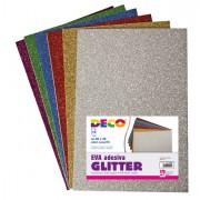 Accessori lavori manuali - Busta 10 Fogli 20x30Cm Gomma Crepp Glitter Colori Assortiti Cwr -