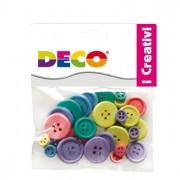 Accessori lavori manuali - Confezione 30 Bottoni In Legno Colori Pastello Cwr -