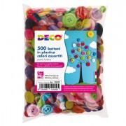 Accessori lavori manuali - Confezione 650 Bottoni In Plastica Colori Assortiti Cwr -
