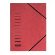 Cartelline a tre lembi - Cartellina Rossa Con Elastico In Cartoncino A4 Pagna -