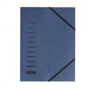 Cartelline a tre lembi - Cartellina Blu Con Elastico In Cartoncino A4 Pagna -