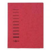 Cartelline a tre lembi - Cartellina rossa in cartone con pressino fermafogli A4 PAGNA - CONF. 25 pz -