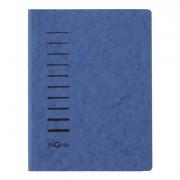 Cartelline a tre lembi - Cartellina blu in cartone con pressino fermafogli A4 PAGNA - CONF. 25 pz -