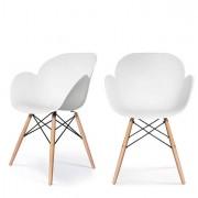 Sedute attesa e accessori - Sedia Kiwood Bianco/Legno Paperflow -