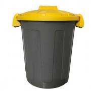 Sacchi rifiuti - pattumiere - bidoni - Contenitore Portarifiuti Dusty 25Lt con Coperchio Giallo -