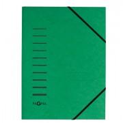 Cartelline a tre lembi - Cartellina Verde Con Elastico In Cartoncino A4 Pagna -
