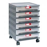 Contenitori multiuso e scaffali - Cassettiera In Pp 6 Cassetti Su Ruote Mopla 206R -