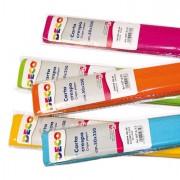 Accessori lavori manuali - Confezione 6 rotoli carta crespa gr.40 250x50cm colori caldi CWR -