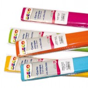 Accessori lavori manuali - Confezione 6 rotoli carta crespa gr.40 250x50cm colori freddi CWR -