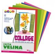 Carta crespa-velina - Busta di carta velina 50fg 50x76cm 10 colori assortiti CWR -