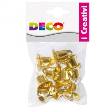 Cartonage didattico - Busta 10 campanellini dim. 22mm in metallo color oro 11491 CWR -