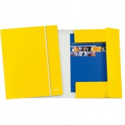 Cartelle con elastico - Cartellina con elastico WOW giallo 25X35cm - CONF. 5 -