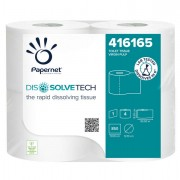 Carta igienica e distributori - Pacco 4RT Carta igienica 850 strappi Dissolvetech Papernet -