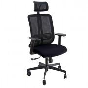 Sedute direzionali - Poltrona ergonomica Vertigo Nero/Nero No FLAME con poggiatesta e braccioli -