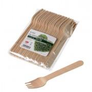 Posate monouso - 48 Forchette in legno 16cm Leone -