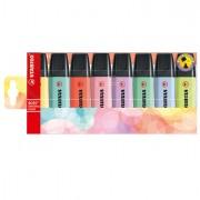 Colore liquido - Astuccio 8 evidenziatori Stabilo Boss pastel 4+4 colori new -