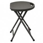 Tavoli e sedute da esterni - Sgabello pieghevole in HDPE noce Horeca -