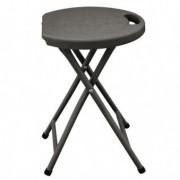 Tavoli e sedute da esterni - Sgabello pieghevole in HDPE bianco Horeca -