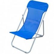 Tavoli e sedute da esterni - Sdraio pieghevole blu Beach -