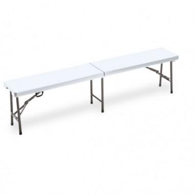 Tavoli e sedute da esterni - Panca pieghevole L183cm in HDPE bianco Horeca -