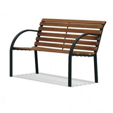 Tavoli e sedute da esterni - Panca da giardino PARCO L122cm in acciaio e legno -