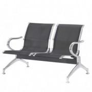 Sedute attesa e accessori - Panca attesa a 2 posti in acciaio Nero -