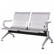 Sedute attesa e accessori - Panca attesa a 2 posti in acciaio Grigio -