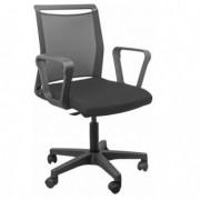Sedute operative - Sedia home/office Smart Light schienale in rete nero seduta nera con braccioli -