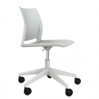 Sedute operative - Sedia home/office Alpha GB bianco S/braccioli -