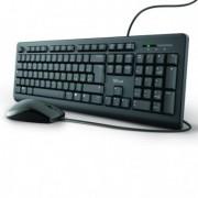 Mouse e tastiere - Set tastiera con filo + mouse con filo ultrasilenziosa TKM-250 - Trust -