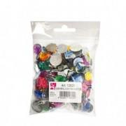 Accessori lavori manuali - Busta 250 pz Gemme Kristall colori e forme assortite Cwr -