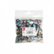 Accessori lavori manuali - Busta 1000 pz Gemme Kristall tonde in colori assortiti Cwr -