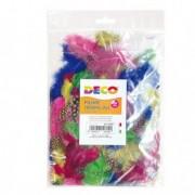 Accessori lavori manuali - Busta 100 piume tropicali dim. 50-100mm in colori assortiti Cwr -
