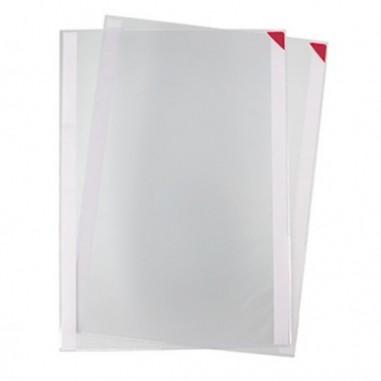 Buste per identificazione - Confezione 5 tasche a L con retro adesivo f.to A4 rosse Tarifold -