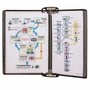 Buste per identificazione - Kit Leggio magnetico Pro Wall Kit + 5 buste f.to A4 nero Tarifold -