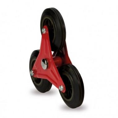 Carrelli per movimentazione - Ruota tris per carrello trasporto per scale Robustus -