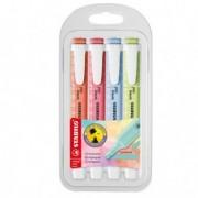 Pastelli colorati - Astuccio 4 colori evidenziatore SWING COOL pastel STABILO 275/4-08-1 -