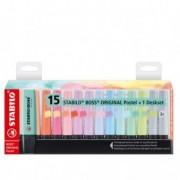 Colore liquido - Deskset Pastel 15 evidenziatori Stabilo Boss colori ass. 7015-02 -