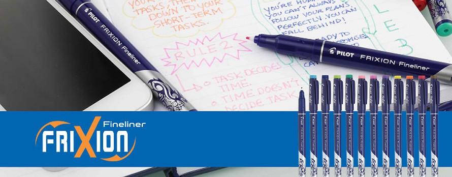 Scopri il nuovo Fineliner Frixion, il pennarello cancellabile